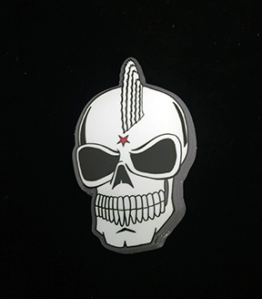 Custom skull stickers